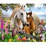 Лошадки в цветах