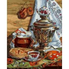 Картина-раскраска по номерам «Масленица» 40*50 см