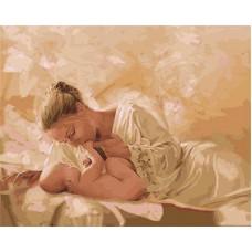 Картина-раскраска по номерам «Мать и дитя» 40*50 см