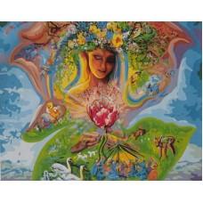 Картина-раскраска по номерам «Мать-земля» 40*50 см