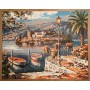 Картина-раскраска по номерам «Итальянская гавань» 40*50 см