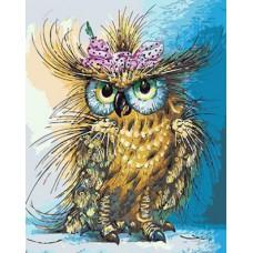 Картина-раскраска по номерам «Модная сова» 40*50 см