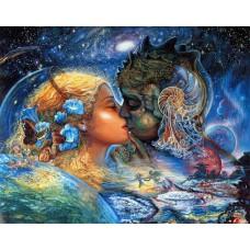 Картина-раскраска по номерам «Мужское и женское» 40*50 см