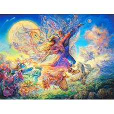 Картина-раскраска по номерам «На крыльях любви» 40*50 см