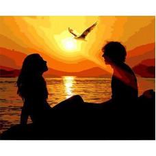 Картина-раскраска по номерам «На закате» 40*50 см