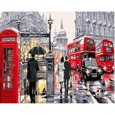 Картина-раскраска по номерам «Очарование Лондона» 40*50 см