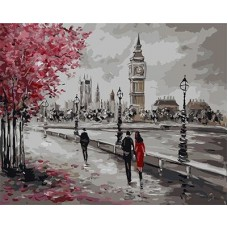 Картина-раскраска по номерам «Осенний Лондон» 40*50 см