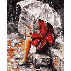 Картина-раскраска по номерам «Осенние раздумья» 40*50 см