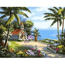 Картина-раскраска по номерам «Остров Кокос» 40*50 см
