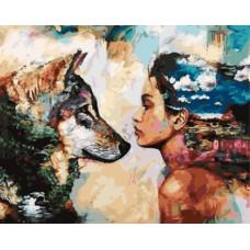 Картина-раскраска по номерам «Отражение души» 40*50 см