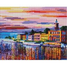 Алмазная мозаика «Озеро Комо - Белладжио» 20*25 см
