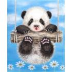Панда на качелях