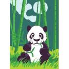 Панда в бамбуковом лесу