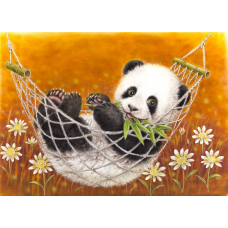 Картина-раскраска по номерам «Панда в гамаке» 30*40 см