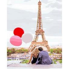 Картина-раскраска по номерам «Парижская романтика» 40*50 см