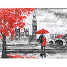 Картина-раскраска по номерам «Парочка в Лондоне» 40*50 см
