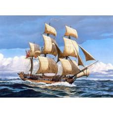 Алмазная мозаика «Парусник в море» 40*50 см