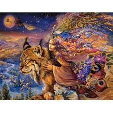 Картина-раскраска по номерам «Полет рыси» 40*50 см