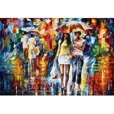 Картина-раскраска по номерам «Прогулка под дождем» 30*40 см