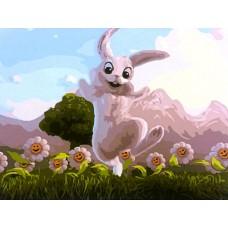 Картина-раскраска по номерам «Радостный кролик» 30*40 см