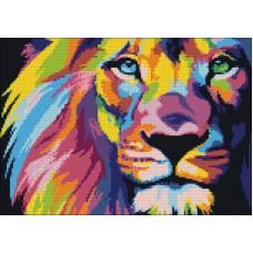 Алмазная мозаика «Радужный лев (мозаика)» 40*50 см