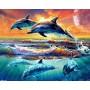 Резвящиеся дельфины