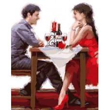 Картина-раскраска по номерам «Романтический вечер» 40*50 см