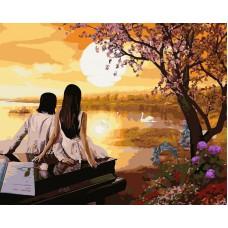 Картина-раскраска по номерам «Романтика» 40*50 см
