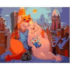 Картина-раскраска по номерам «Романтика на крыше» 40*50 см