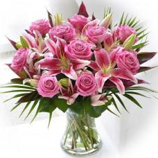 Картина-раскраска по номерам «Розы и лилии» 30*40 см