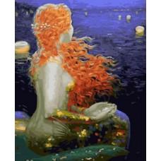 Картина-раскраска по номерам «Русалка» 40*50 см