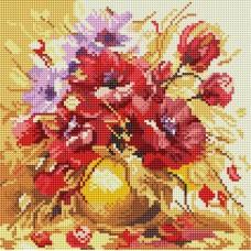 Алмазная мозаика «Садовый букет» 30*30 см