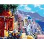 Картина-раскраска по номерам «Санторини» 40*50 см