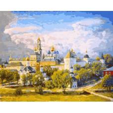 Картина-раскраска по номерам «Сергиев Посад» 40*50 см