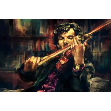 Картина-раскраска по номерам «Шерлок» 40*50 см