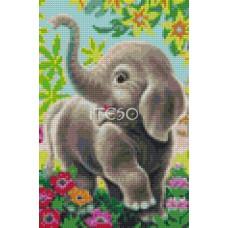 Алмазная мозаика «Слоненок » 20*30 см