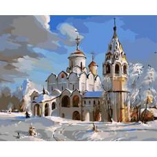 Картина-раскраска по номерам «Суздаль. Покровский собор» 40*50 см