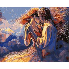 Картина-раскраска по номерам «Танцующая пара» 40*50 см