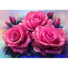 Алмазная мозаика «Три розы» 30*40 см