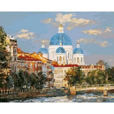 Картина-раскраска по номерам «Троицкий собор» 40*50 см