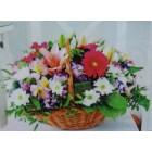 Цветы в корзинке