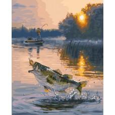 Картина-раскраска по номерам «Удачный улов» 40*50 см