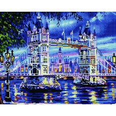 Алмазная мозаика «Вечерний Тауэрский мост» 40*50 см