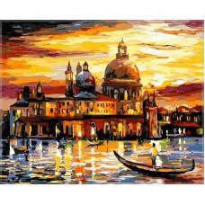 Картина-раскраска по номерам «Вечерняя Венеция» 40*50 см