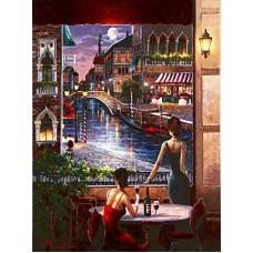 Картина-раскраска по номерам «Венецианский канал» 40*50 см