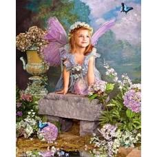 Алмазная мозаика «Весенний ангел» 30*40 см