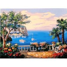 Картина-раскраска по номерам «Вид на море» 40*50 см