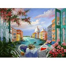 Картина-раскраска по номерам «Вид на Венецию» 40*50 см