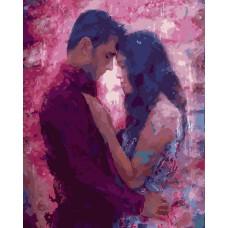 Картина-раскраска по номерам «Влюбленные» 40*50 см