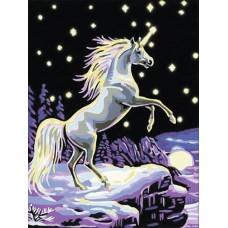 Картина-раскраска по номерам «Единорог» 30*40 см